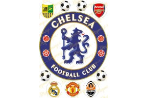 Вафельная картинка Футбол №3
