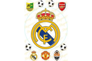 Вафельная картинка Футбол №4