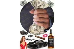 Съедобная картинка Деньги мужчины №1