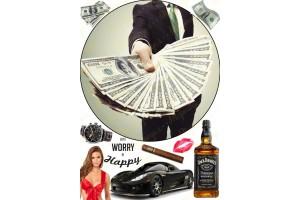 Съедобная картинка Деньги мужчины №2