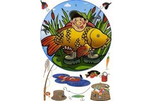 Съедобная картинка Рыбалка №14