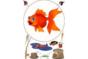 Съедобная картинка Рыбалка №15