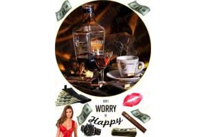 Съедобная картинка Алкоголь. Сигары. №1