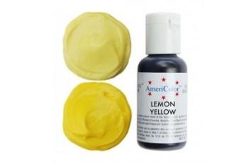 Краситель гелевый AmeriColor Лимонно-Желтый 21г.