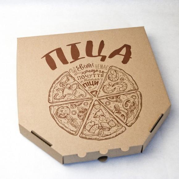 Коробка для пиццы 300х300х37 мм Бурая.Купить в Харькове,Киеве по лучшей цене в интернет- магазине Тортодел