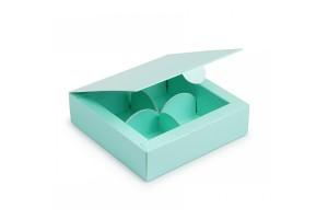 Коробка для конфет 112х112х30 на 4 штуки тиффани