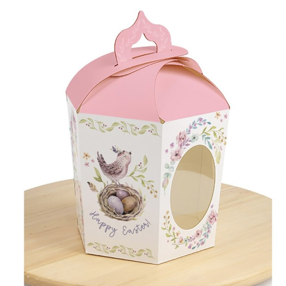 Коробка пасхальная 145х165х160 мм №4 Розовая птичка.Купить в Харькове,Киеве по лучшей цене в интернет- магазине Тортодел