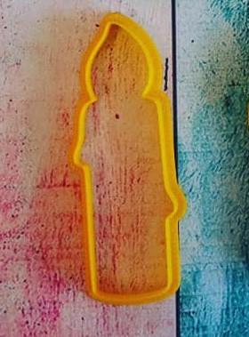 Вырубка для пряника Свеча.Купить в Киеве,Харькове и Украине по лучшей цене в интернет магазине Тортодел