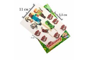 Набор сахарных топперов №43 Майнкрафт