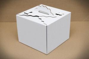Коробка для торта 250х250х200 мм с бабочками