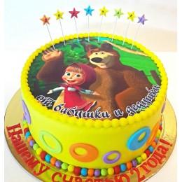 Детский торт со съедобной картиной
