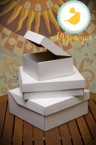Коробка картонная для торта, размер 26,7 Х 26,7 Х 11,5см с открывающимся передом.Купить в Харькове,Киеве по лучшей цене в интернет- магазине Тортодел