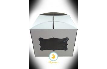 Коробка для торта 300х300х250 с окном