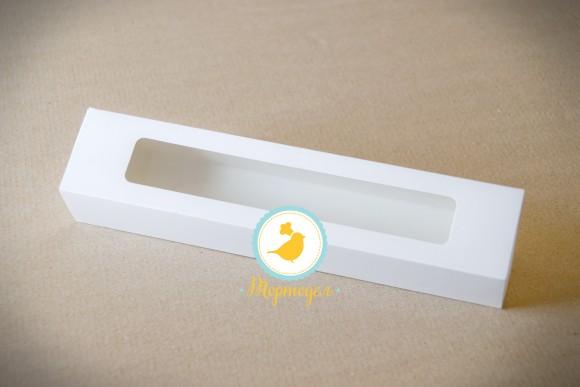 Коробка для макаронс белая 303х60х50 мм.Купить в Харькове,Киеве по лучшей цене в интернет- магазине Тортодел