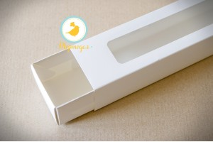 Коробка для макаронс белая 303х60х50 мм