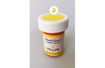 Краситель для шоколада Chefmaster Candy Color, Yellow (Желтый) 20g