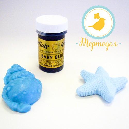 Краситель пастообразный SugarFlair Baby Blue детский голубой. Купить в Киеве и Украине. Цена в интернет магазине Тортодел