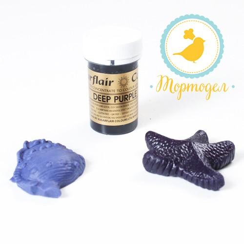 Краситель пастообразный SugarFlair Deep Purple темно-фиолетовый. Купить в Киеве и Украине. Цена в интернет магазине Тортодел
