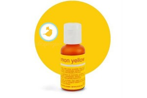 Гелевый краситель Chefmaster Liqua-Gel Lemon Yellow (лимонный) 21 г.