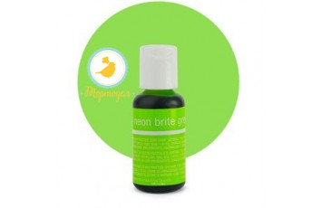 Гелевый краситель Chefmaster Liqua-Gel Neon Brite Green (электрик зеленый) 21 г.