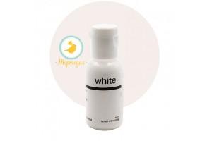 Гелевый краситель Chefmaster Liqua-Gel Bright White (белый) 21 г.
