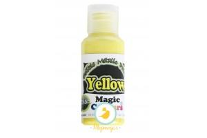 Краситель Желтый (Yellow)  для окрашивания поверхностей металлик Edible Metallic Paint (Эдибл Металлик Пэйнт) 32 гр