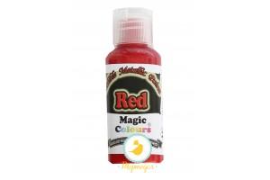 Краситель Красный (Red)  для окрашивания поверхностей металлик Edible Metallic Paint (Эдибл Металлик Пэйнт) 32 гр
