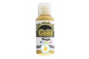 Краситель Золотой (Gold)  для окрашивания поверхностей металлик Edible Metallic Paint (Эдибл Металлик Пэйнт) 32 гр