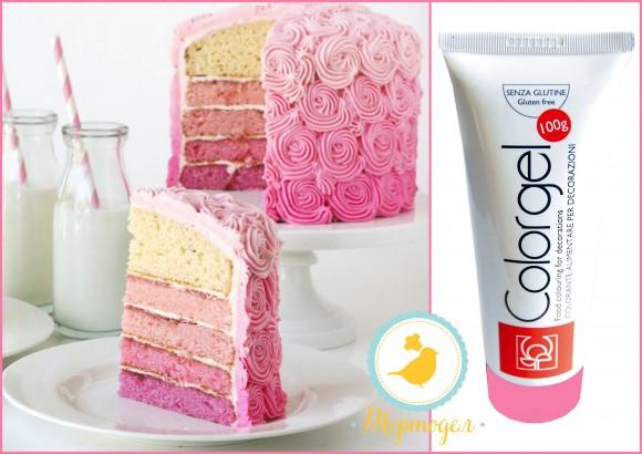 Краситель Modecor Color Gel  100 г розовый. Купить в Киеве,Харькове и Украине. Цена в интернет магазине Тортодел