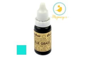 Краситель гелевый SugarFlair BLUE GRASS (TURQUOISE) Бирюзовый 14г.