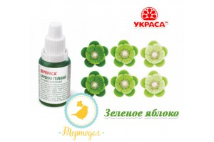Краситель гелевый Украса зеленое яблоко 25 г.