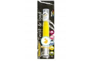 Краситель-блеск Желтый (Yellow) с кисточкой Edible Glitter Brush