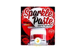 Паста-блеск для декора Красный (Red) Magic Colours(Мэджик Колорс)с металлическим оттенком Sparkle Paste(Спаркл Пэйст)-8г
