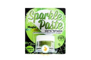 Паста-блеск для декора Зеленый (Green) Magic Colours(Мэджик Колорс)с металлическим оттенком Sparkle Paste(Спаркл Пэйст)-8г