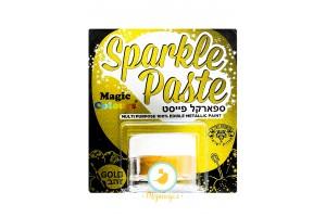 Паста-блеск для декора Золотой (Gold) Magic Colours(Мэджик Колорс)с металлическим оттенком Sparkle Paste(Спаркл Пэйст)-8г