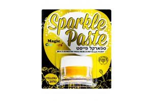 Паста-блеск для декора Желтый (Yellow) Magic Colours(Мэджик Колорс)с металлическим оттенком Sparkle Paste(Спаркл Пэйст)-8г