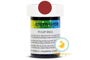 Пастообразный краситель Chefmaster Gel Base Color Tulip Red (красный тюльпан) 28,35 г.