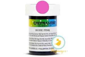Пастообразный краситель Chefmaster Gel Base Color Rose Pink (бледно-розовый) 28,35 г.