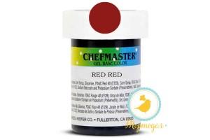 Пастообразный краситель Chefmaster Gel Base Color Red Red (красный-красный) 28,35 г.