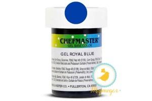 Пастообразный краситель Chefmaster Gel Base Color Color Royal Blue (синий-королевский) 28,35 г.