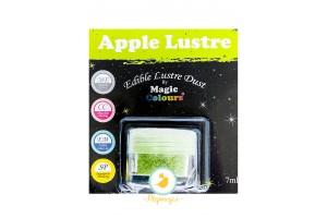 Блестящая пыльца Зеленое яблоко ( Apple Lustre)  Magic Colours Lustre Dust(Мэджик Колорс Ластэ Даст) 7 мл