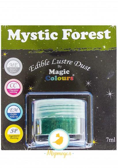 Блестящая пыльца Зеленый (Mystic Forest) Magic Colours Lustre Dust(Мэджик Колорс Ластэ Даст) 7 мл. Купить в Киеве,Харькове и Украине. Цена в интернет магазине Тортодел