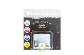 Блестящая пыльца Серебрянный (Pure Silver)  Magic Colours Lustre Dust(Мэджик Колорс Ластэ Даст) 7 мл