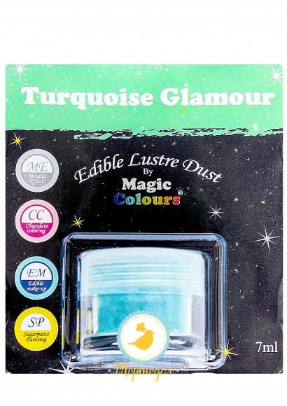 Блестящая пыльца Бирюзовый (Turquoise Glamour) Magic Colours Lustre Dust(Мэджик Колорс Ластэ Даст) 7 мл. Купить в Киеве,Харькове и Украине. Цена в интернет магазине Тортодел