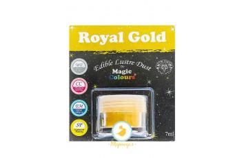 Блестящая пыльца Золотой (Royal Gold)  Magic Colours Lustre Dust(Мэджик Колорс Ластэ Даст) 7 мл