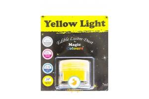 Блестящая пыльца  Желтый (Yellow Light) Magic Colours Lustre Dust(Мэджик Колорс Ластэ Даст) 7 мл