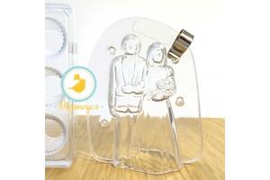 Поликарбонатная форма для шоколада Жених и Невеста 3D