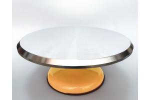 Подставка крутящаяся для работы с тортом Оранжевая  300*150 мм №4