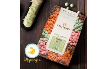 """Шоколад зеленый со вкусом лимона """"Callebaut Lemon """" 30 % - 0,5 кг фасовка (LEMON-E4-U70)"""