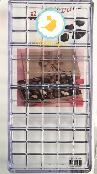 Поликарбонатная форма для шоколада Плитка большая №3 4шт